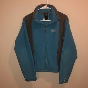 The North Face Fleece Jacket Blue And Gray
